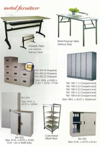 Metal cabinets, metal drawers, metal lockers...